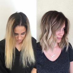 40 hair color trends in 2019 before & after highlights on hair tips page 09 Balayage Hair, Ombre Hair, Bayalage, Holiday Hairstyles, Bob Hairstyles, Longbob Hair, Before After Hair, Blonde Hair Shades, Pinterest Hair