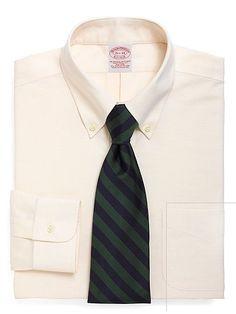 Brooks Brothers Ecru Dress Shirt