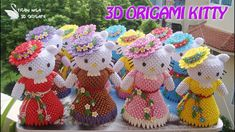 3D ORIGAMI KITTY | DIY PRINCESSE KITTY COLLECTION