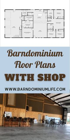 Barn Homes Floor Plans, Pole Barn House Plans, Pole Barn Homes, Shop House Plans, New House Plans, Dream House Plans, Small House Plans, House Floor Plans, Loft Floor Plans