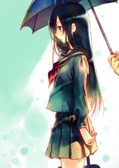 Resultado de imagem para anime girl crying in the rain