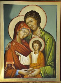 Holy Family, Saints, Religion, Tattoo Ideas, Lord, Painting, Crafts, Sagrada Familia, Manualidades