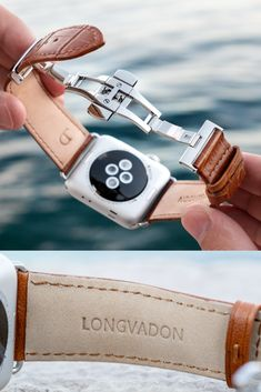 Transform your Apple Watch into a fashion accessory with our Whiskey Brown with Silver Details Apple Watch Leather Band for men. Gift this elegant leather accessory for the classy, dapper man in your life this Christmas! Army Watches, High End Watches, Cool Watches, Watches For Men, Apple Watch Leather, Leather Watch Bands, Apple Watch Accessories, Leather Accessories, Dapper Man
