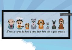 Lady and the tramp cross stitch
