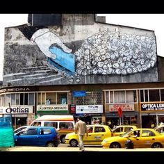 By BLU in Bogota, Colombia. #streetartphotography #graffitiart #art #streetart #instagraffiti #painting #illustration #streetartist