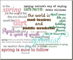 Spring Word Art from GetItScrapped.com