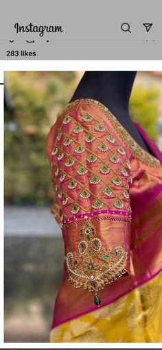 Wedding Saree Blouse Designs, Pattu Saree Blouse Designs, Designer Blouse Patterns, Fancy Blouse Designs, Blouse Neck Designs, Hand Work Blouse Design, Stylish Blouse Design, Blouse Designs Catalogue, Aari Embroidery