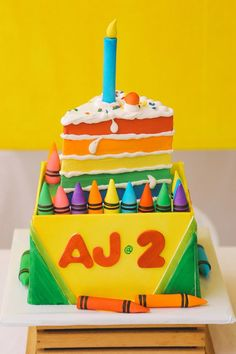 AJ's Crayons Themed Party – 2nd Birthday
