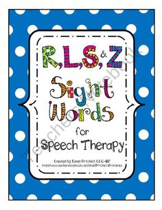 Speech Therapy - Big Bundle of Articulation games, flashcards, and homework utilizing curriculum sight words. Over 50 pages.   *On sale during Teacher Appreciation Week!