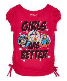 Look at this #zulilyfind! Fuchsia DC Comics 'Girls are Better' Tee - Girls by DC COMICS #zulilyfinds