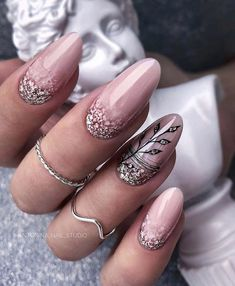 Rose Nails, Flower Nails, Pink Nails, Yorky, Manicure And Pedicure, Manicure Ideas, Rainbow Nails, Stylish Nails, Creative Nails
