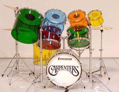 Karen Carpenter - The Carpenters - Karen's Ludwig Vistalite drum set Richard Carpenter, Karen Carpenter, Ludwig Drums, Drummer Gifts, Electronic Kits, Vintage Drums, How To Play Drums, Drum Kits, Farm Yard