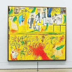 #JeanMichelBasquiat Bad Painting, Painting & Drawing, Jm Basquiat, Jean Michel Basquiat Art, Andy Warhol, Kandinsky, Basquiat Paintings, Contemporary Art, Street Art