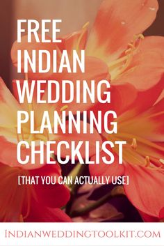 Use this wedding planning checklist for any kind of Indian wedding or fusion Indian wedding.  Use the checklist in combination with a more detailed wedding checklist [that'll be unique to your wedding].   Click through to download the free Indian wedding planning checklist!