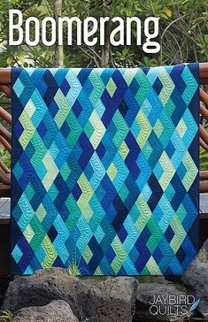 jellyroll quilts Boomerang Quilt Jaybird Quilts No Y seams! Not a finished quilt Not a do Jaybird Quilts, Jellyroll Quilts, Strip Quilts, Scrappy Quilts, Baby Quilts, Quilt Blocks, Quilt Kits, Denim Quilts, Girls Quilts