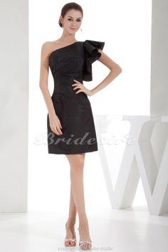 Schede/Kolom Een schouder Korte broek / Mini Mouwloos Satijn Kleding - $81.99