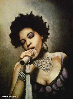 Singer by ~VeraPoisk on deviantART (Macy Gray) African American Artwork, African Art, Zentangle, Art Afro, Natural Hair Art, Black Artwork, My Black Is Beautiful, Black Women Art, Illustration Girl