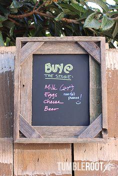 Barnwood Chalkboard Frame 8x10 - Corners