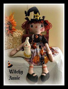 Witchy Annie Grim Reaper, Annie, Teddy Bear, Dolls, Halloween, Sweet, Fun, Animals, Baby Dolls