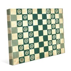 """Click Wall Art Checkers Teal Painting Print on Wrapped Canvas Size: 30"""" H x 40"""" W x 1.5"""" D"""