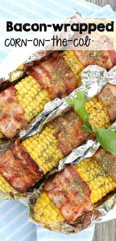 This bacon-wrapped corn on the cob is so awesome