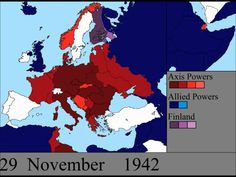 World War II in Europe: Every Day - This video shows the changing front lines of the European Theater of World War II every day from the German invasion of Poland to the surrender of Germany.