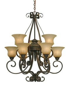 Light 2 Tier Chandelier Gl 7116 9 Lc