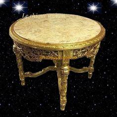 Barok (Salon)tafel Sahara Arabica Gold | Le Chique Wonen