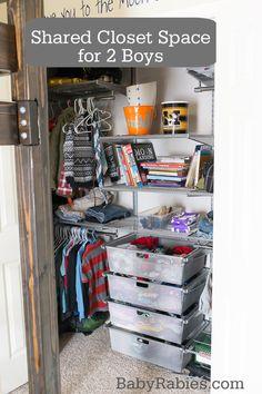 2 Boys Worth Of Stuff Into One Closet