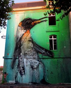 """Melting Penguin"", a new mural by Bordalo II in Bordeaux, France"