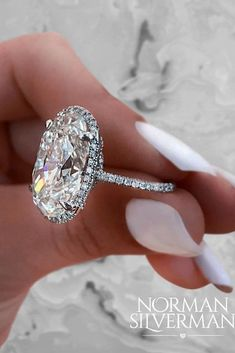 42 Most Popular And Trendy Engagement Rings For Women ❤️ engagement rings for women unique white silver oval engagement ring ❤️ See more: http://www.weddingforward.com/engagement-rings-for-women/ #weddingforward #wedding #bride #engagementrings