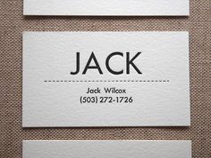 Mid-Century Modern Business Cards - Personalized Letterpress Calling Cards…