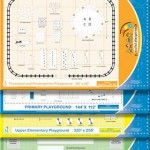 Blueprints of game markings for Peaceful Playgrounds. Add 100 games and activities to your playground.