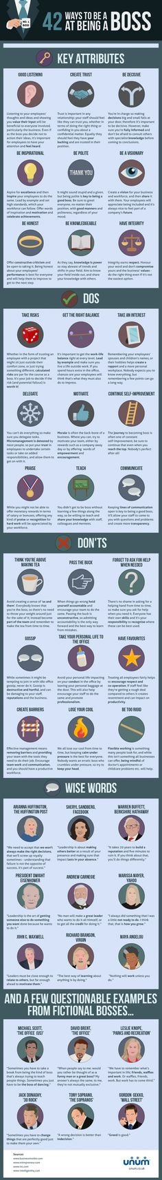 Amazing Ways to be a Boss at Being a Boss #Infographics