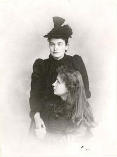 1893, Portrait photograph of Helen Keller (seated) and Anne Sullivan. Photo courtesy of the American Foundation for the Blind, Helen Keller Archives.
