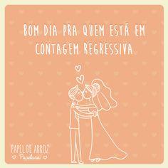 Contagem regressiva casamento. #Sernoivaé #casamento #convites #papeldearroz #convitedecasamento