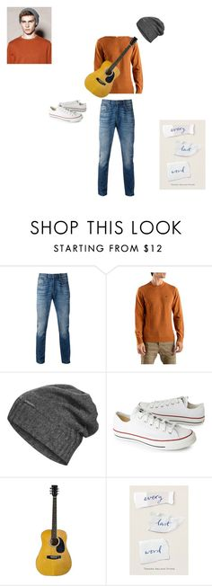 """""""AJ from the book Every Last Word"""" by sarahbear112 ❤ liked on Polyvore featuring Levi's, Penguin, The North Face, Converse, men's fashion and menswear"""