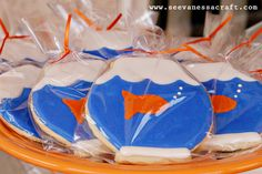 Royal Icing Fishbowl Cookies