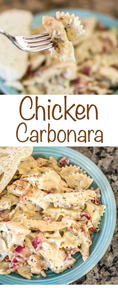 Carbonara recipe with Bacon, chicken and cheesy pasta perfection! An eas. Chicken Carbonara recipe with Bacon, chicken and cheesy pasta perfection! An eas. Chicken Carbonara recipe with Bacon, chicken and cheesy pasta perfection! An eas. Chicken Carbonara Recipe, Pasta Carbonara, Pasta Cheese, Cheese Sauce, Gourmet Chicken, Chicken Parmesan Recipes, Crock Pot Recipes, Food Dinners, Dinner Ideas