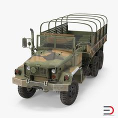 US Army Cargo Truck M35 3d model Rigged