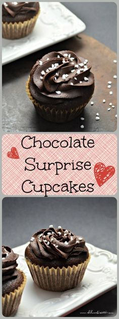 You'll be totally speechless when you bite into these chocolate surprise cupcakes. Spoiler alert: The surprise is the cream cheese-chocolate chip center.