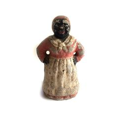 RARE Antique Concrete Mammy Aunt Jemima Door Stop Americana BLACK... ($600) ❤ liked on Polyvore featuring home, home decor, concrete statuary, cement statuary, concrete statues, black home decor and black door stop