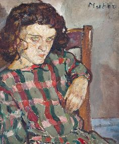 """lilithsplace: """" Portrait of a girl, c. 1920 - Mela Muter (1876–1967) oil on canvas 