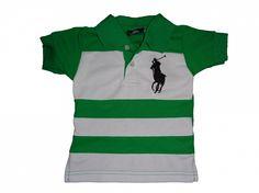 Maat 92 Polo Groen/wit gestreept  Merk Ralph Lauren