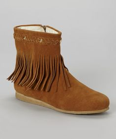Take a look at this Tan Sora 9 Fringe Boot by C Label on #zulily today! $30 !!