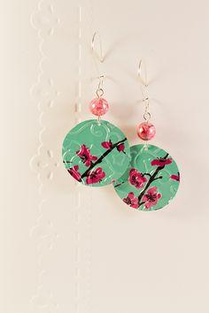 Boucles d'oreilles - Fleurs de cerisier : Boucles d'oreille par cap-and-pap