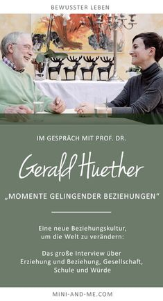 Gerald Hüther on moments of successful relationships (A new relationship culture to change the world) - Dr. Gerald Hüther on moments of successful relationships (Mini and Me, conscious life, academy for - Psychology Programs, Psychology Student, Natural Parenting, Kids And Parenting, Parenting Hacks, Professional Learning Communities, Attachment Parenting, Successful Relationships, Libros