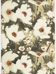"Sidewall, ""Giant Poppies"", 1966 Pinned by Christine Kopper Design Textile, Design Floral, Art Design, Textile Prints, Floral Prints, Motifs Textiles, Textile Patterns, Print Patterns, Floral Patterns"