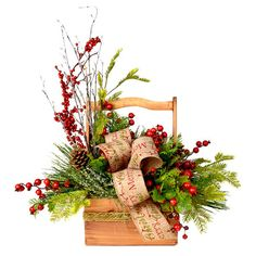 Adorn your holiday table with this festive centerpiece, or add it to the buffet to brighten up the potluck display.  Product: Ba...