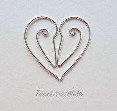 Cigüeña amor marcador de alambre por TuranianWalk en Etsy